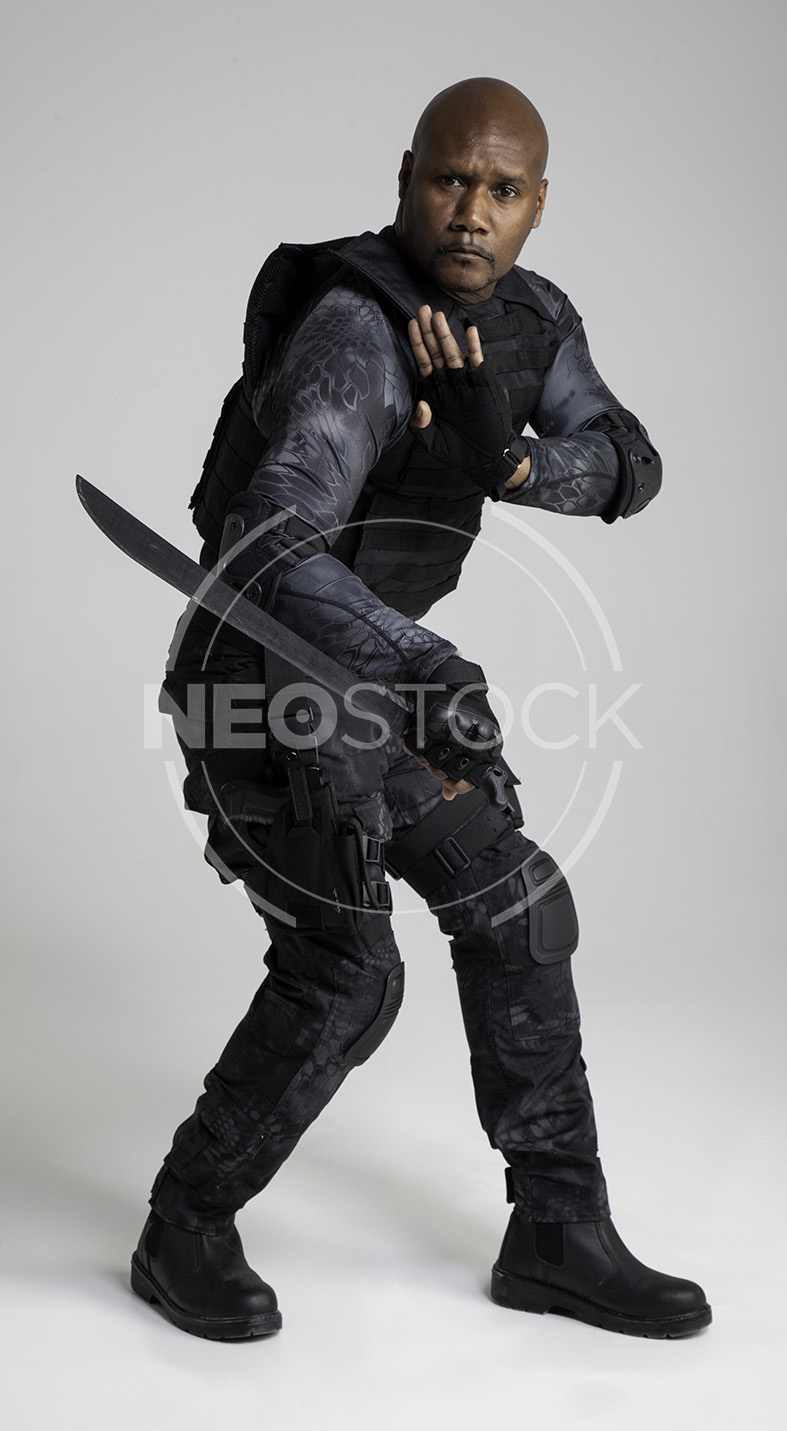 NeoStock -Regis III, Tactical Assassin, Stock Photography