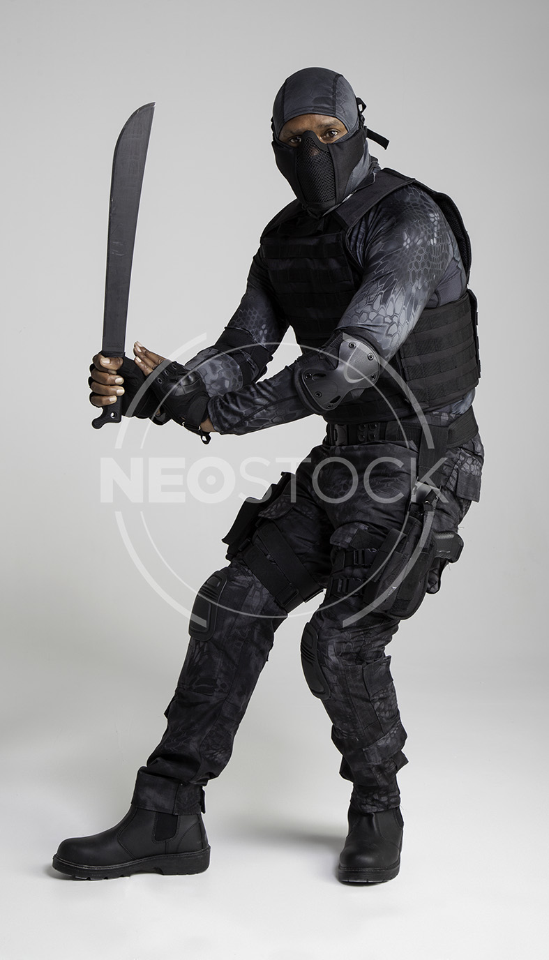NeoStock -Regis II, Tactical Assassin, Stock Photography