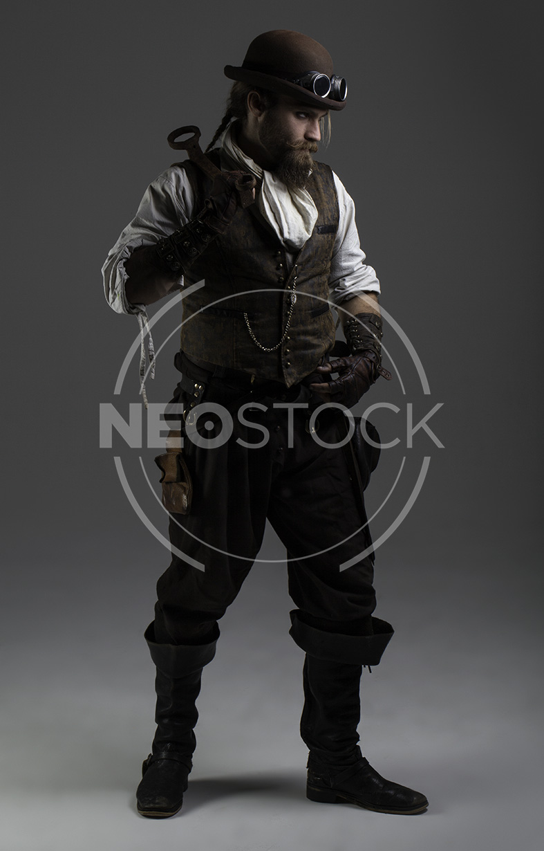 NeoStock - Karlos IV, Steampunk Adventurer, Stock Photography