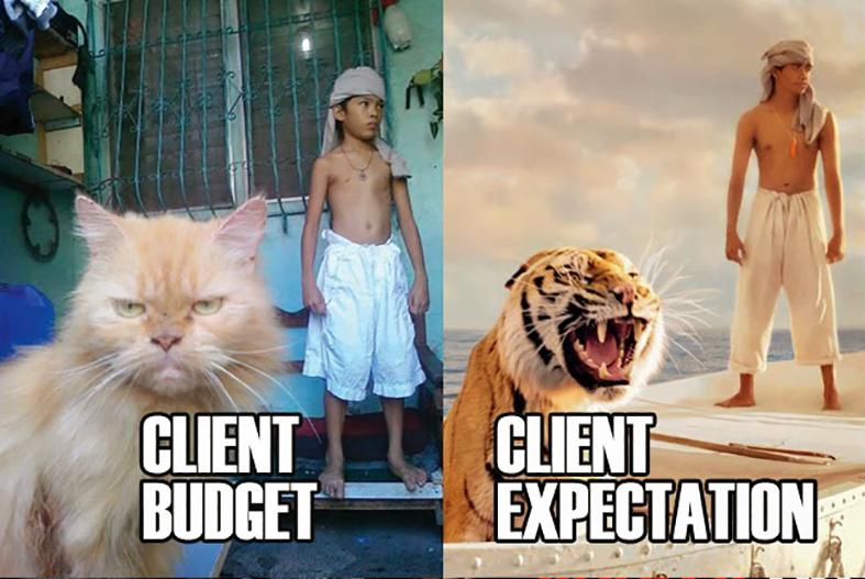 client budget client expectation