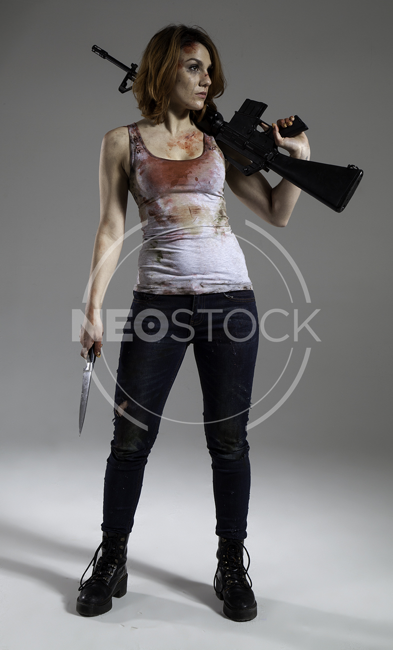 NeoStock - Mandy Final Girl Horror - Stock Photography II