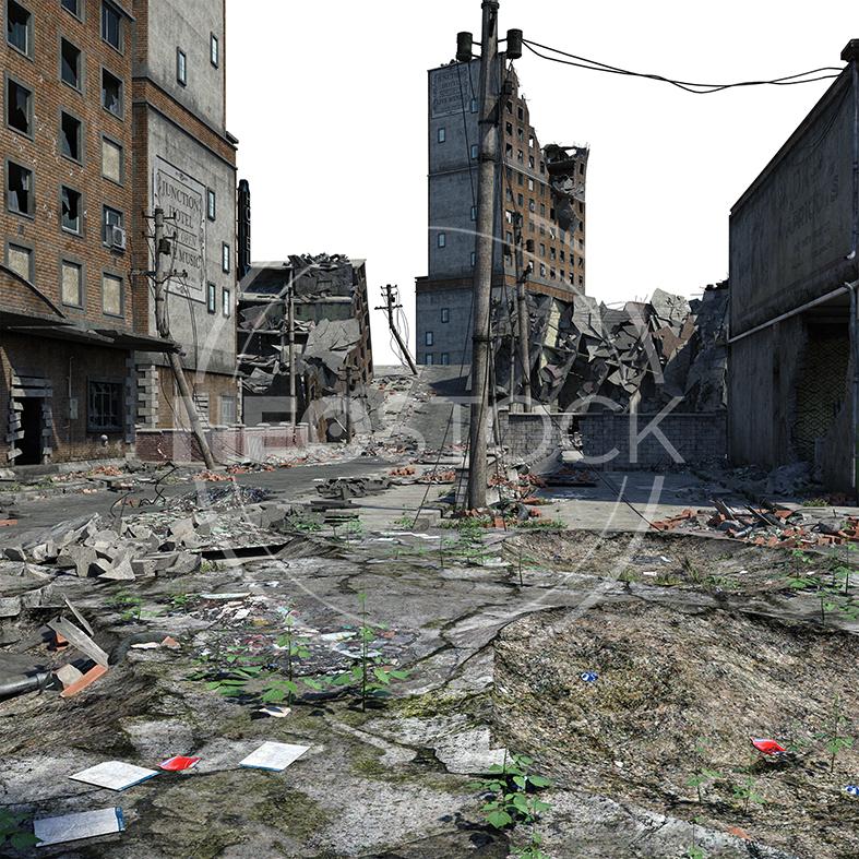 NeoStock - CG Cyberpunk City Background - Stock Photography V