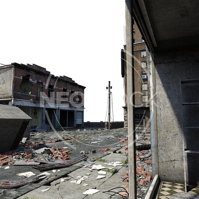 NeoStock - CG Cyberpunk City Background - Stock Photography I