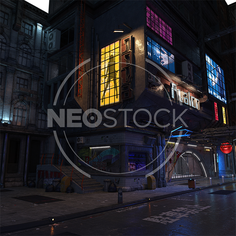 NeoStock - CG Cyberpunk City Background III - Stock Photography I