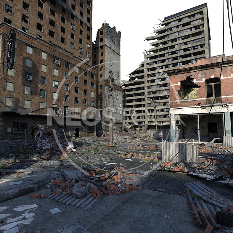 NeoStock - CG Cyberpunk City Background - Stock Photography II