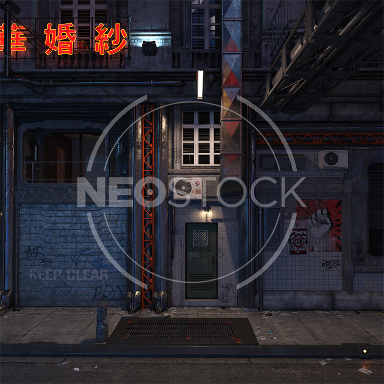 NeoStock - CG Cyberpunk City Background IV - Stock Photography I