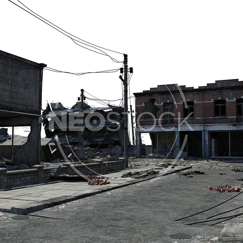 NeoStock - CG Cyberpunk City Background - Stock Photography III