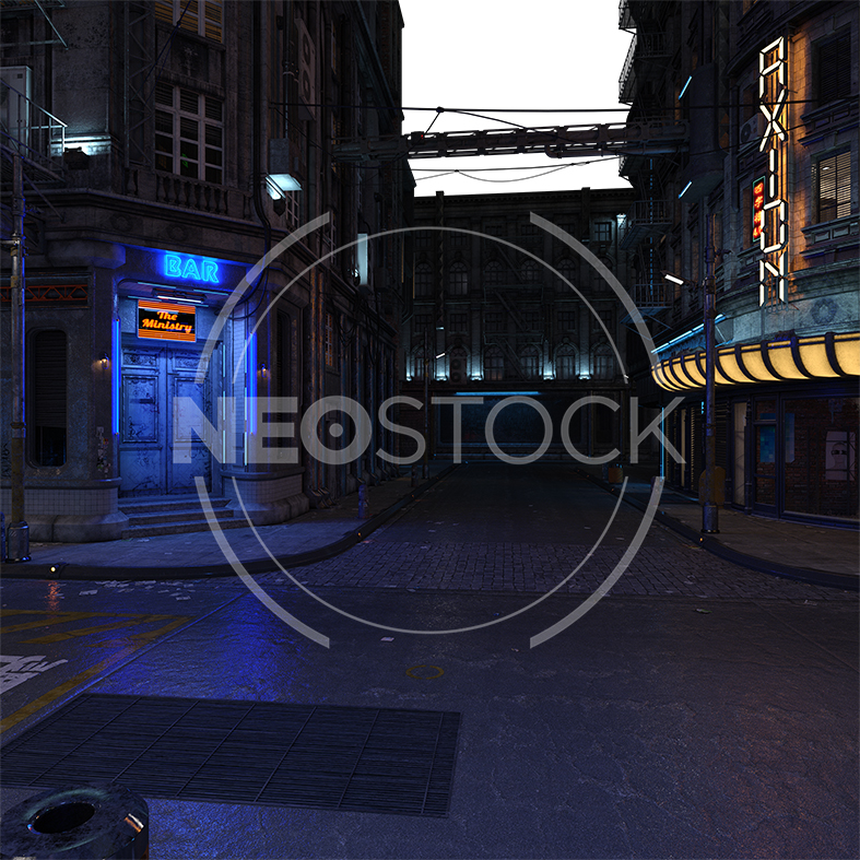 NeoStock - CG Cyberpunk City Background V - Stock Photography I