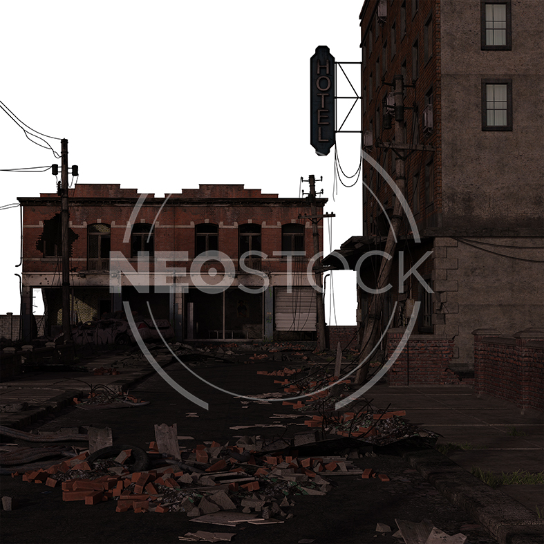 NeoStock - CG Cyberpunk City Background - Stock Photography IV
