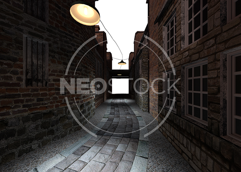 NeoStock - Victorian Alley CG Background - Stock Photography II