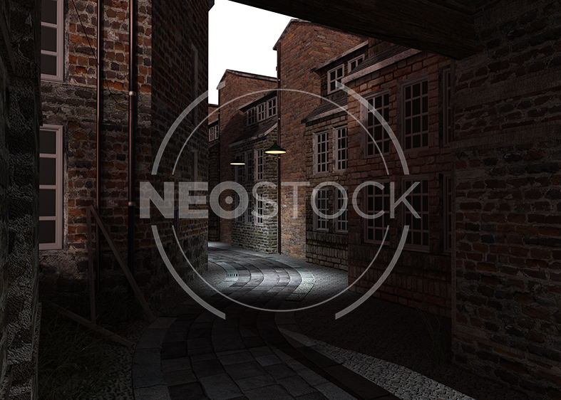 NeoStock - Victorian Alley CG Background - Stock Photography III