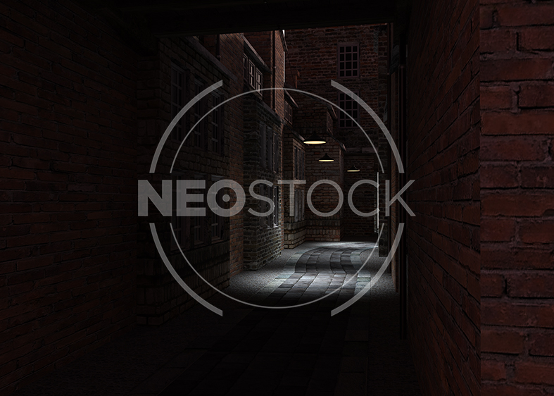 NeoStock - Victorian Alley CG Background - Stock Photography IV