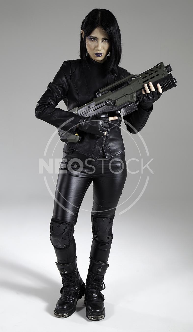 NeoStock - Yuu Cyberpunk Agent - Stock Photography IV