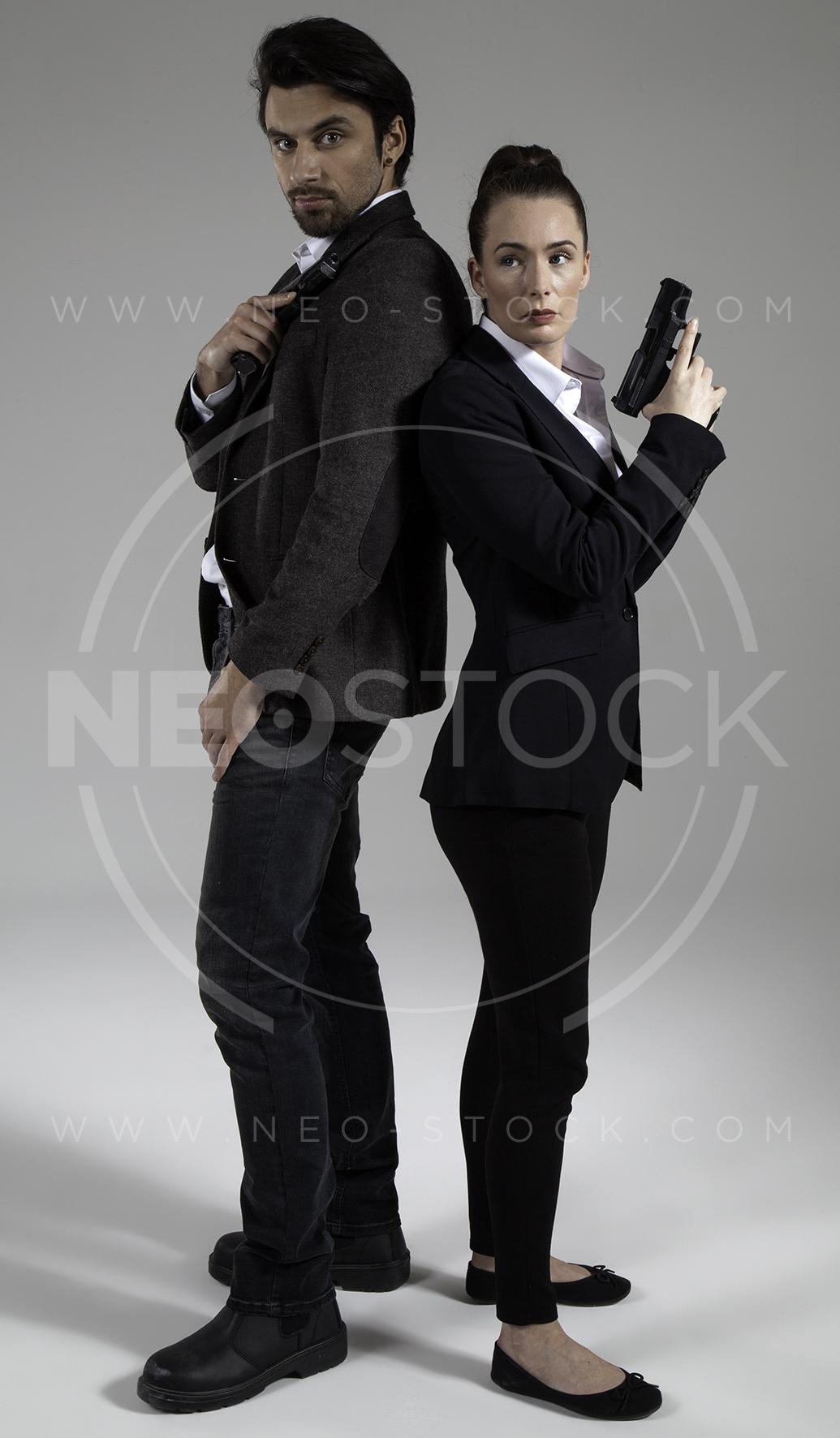 NeoStock - Cop Drama Duo - Stock Photography IV
