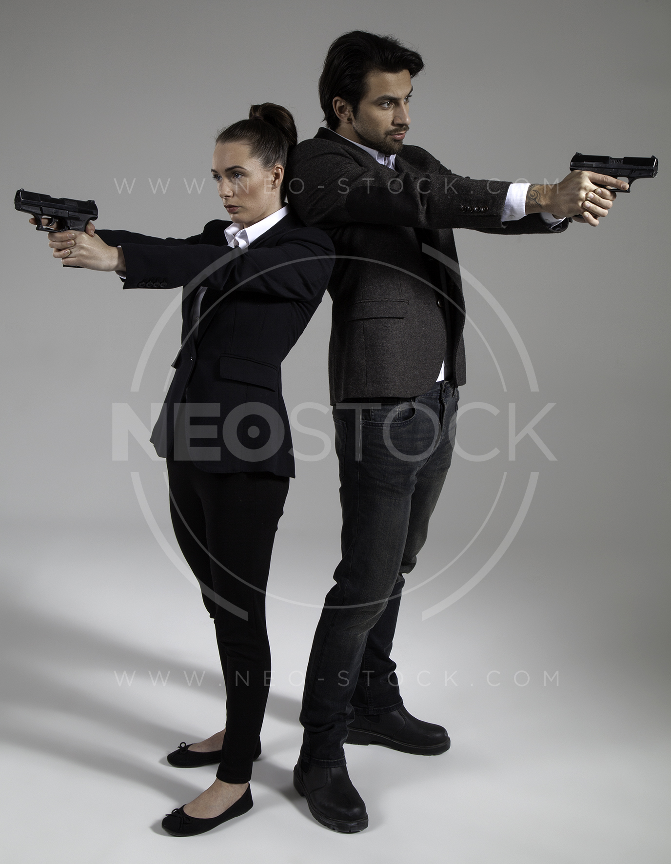 NeoStock - Cop Drama Duo - Stock Photography II