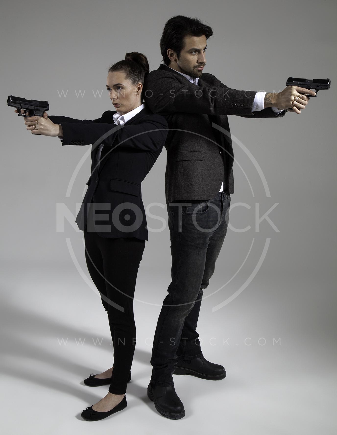 NeoStock - Cop Drama Duo - Stock Photography II